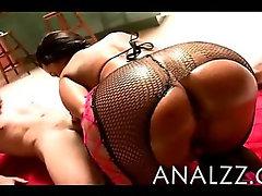 Massive tits Milf Lisa Ann in lingerie pov anal fucking