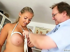 Busty plump Donna tits bondage gyno exam