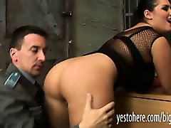 Jasmine Black got arrested and is anal reamed by a police officer