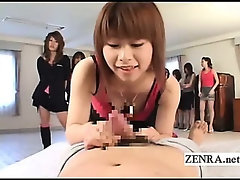 CFNM Japanese amateurs line up to give POV blowjobs
