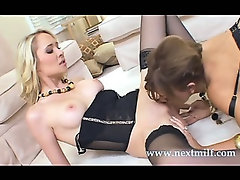 horny milfs get down for some lesbian action