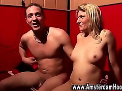 Watch blonde whore get a cumshot