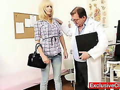 Blonde Bella Morgan visit gynoclinic to have her pussy gyno examined