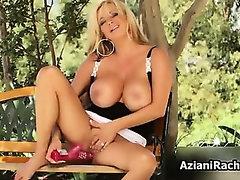Sexy blonde milf with huge big
