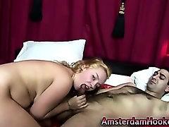Blonde dutch hoe sucks dick