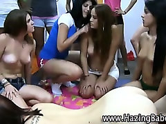 Amateur sorority girl fucks guy for initiation