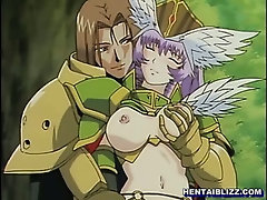 Princess hentai titty and doggy style fucking in the forest