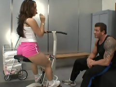 Kristina Rose earns a solid A by blowing and humping a rock solid cock