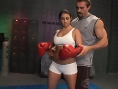 Feisty Whitney Stevens is a knockout boxing babe taking cockpunch in the cunt