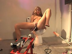 Yummy whore Chastity Lynn loves to use robots to get her rocks off