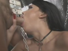 This slut is hammered and then gobbles the knob to get a mouthfull of spunk