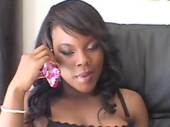 Coffee Brown gets her nasty holes drilled to perfection and loves it