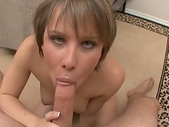 Katie St Ives Ives gets her hairy snatch pounded then takes a facial