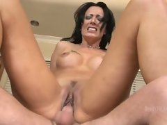 In this scene Zoe Holloway slaps her cunt hard up and down on the dick