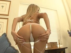 Round assed slut Teagan Presley gets a hard cock plundering up the dinner dumper
