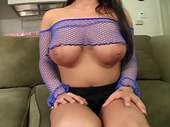Beautiful big tit cum queen Whitney Stevens gets drenched in man chowder