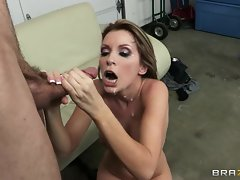 Courtney Cummz gets her face drenched with hot cum