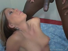 Tabitha James gets plastered with warm cock juice