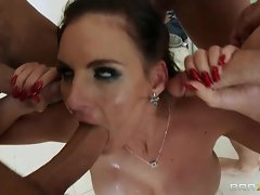 Phoenix Marie gets her mouth stuffed with hard cock