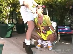 Raunchy Jade Marcela slurps on this throbbing prick