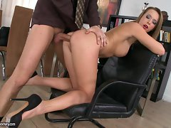 Sexy Kitty Cat is dicked up her dripping wet clunge