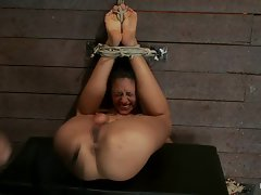 Naughty Layla Storm gets tied up & her ass whipped