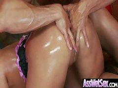 Juicy Oiled Ass Girl Get Hard Anal Bang movie-16