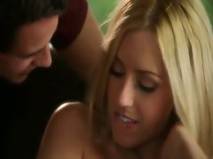 Pretty blonde teen pornstar Lexi Belle pussy pounded hard