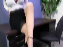Spex slut paddles cock