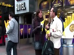 Tourist being escorted in Amsterdam