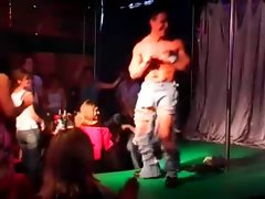 Stripper touched by party chicks