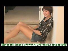 Shazia naughty brunette naked toying pussy with strange vibrator