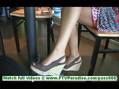 Annalisa lovely amateur brunette posing and talking on casting video and flashing panties