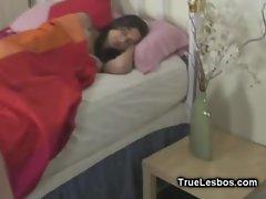 Lesbian Dildoing in Sleep