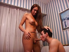 Horny shemale loves to be sucked