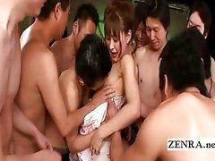 Kimono Japan AV star commences gangbang