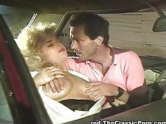 Crazy fucking in the retro car