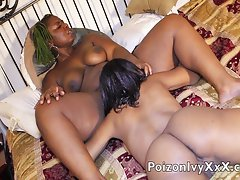 Sexy ebonies eat each-other sleep