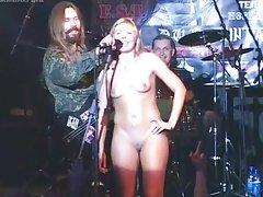 Naked fan at concert