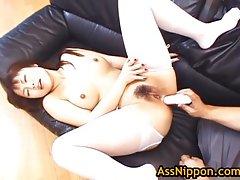 Slut rei himekawa gets anus masturbated