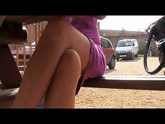 upskirt in stockings ans panties