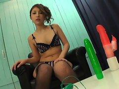 Lala Mizuki 1 of 4 blowjob, facial and vibrator