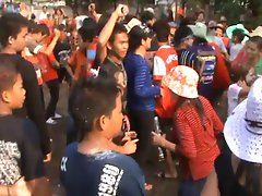 Thailand village girls sizzling dance in public- Part-2