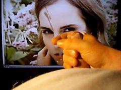 Cumming on Emma Watsons face