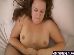 Cute Chubby Teen Handjob