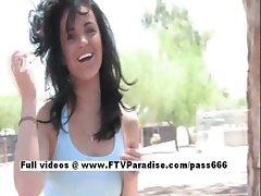 Brianne adorable girl Naked In Public