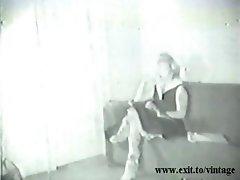 Vintage 1929 Blonde Housewife seduces sales