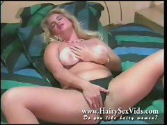 Blonde natural pussy vintage solo