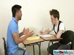 Teacher gets sucked by his student part4