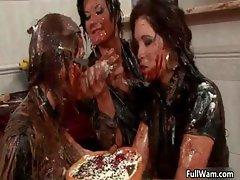 Three horny lesbian babes having part3